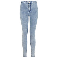 Buy Miss Selfridge Acid Super High Waist Jeans, Blue Online at johnlewis.com