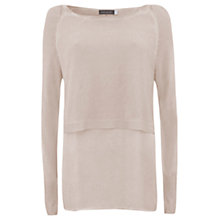 Buy Mint Velvet Nude Overdyed Crop Knit and Shirt Tails, Pale Pink Online at johnlewis.com