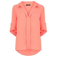 Buy Oasis Plain Dip Hem Shirt Online at johnlewis.com