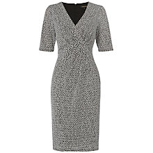 Buy Jaeger Mosaic Print Dress, Black / White Online at johnlewis.com