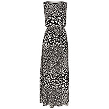 Buy Jaeger Silk Pebble Print Maxi Dress, Black / White Online at johnlewis.com