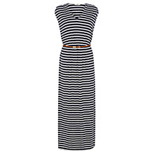Buy Oasis Stripe V Neck Maxi Dress, Multi/Blue Online at johnlewis.com