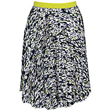 Buy Closet Blu Print Pleat Skirt, Multi Online at johnlewis.com