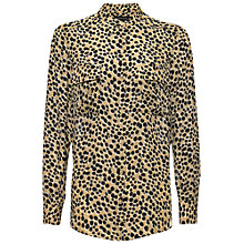 Buy Jaeger Paint Spot Blouse, Camel / Black Online at johnlewis.com
