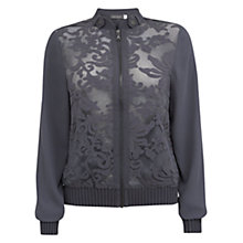 Buy Mint Velvet Steel Lace Bomber Online at johnlewis.com
