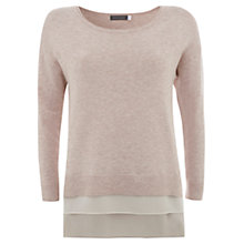 Buy Mint Velvet Nude Layer Hem Knit, Pale Pink Online at johnlewis.com