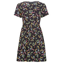 Buy Sugarhill Boutique Flower Frenzy Skater Dress, Black Online at johnlewis.com