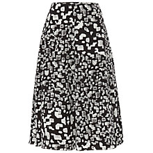 Buy Jaeger Pebble Print Skirt, Black / White Online at johnlewis.com