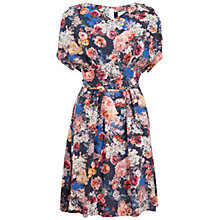 Buy Almari Floral V-Neck Tie Back Dress, Multi Online at johnlewis.com