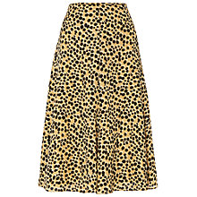 Buy Jaeger Paint Print Skirt, Camel / Black Online at johnlewis.com