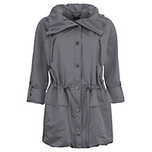 Buy Mint Velvet Short Parka, Grey Online at johnlewis.com