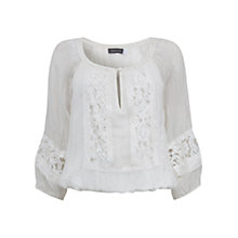 Buy Mint Velvet Silk Blouson Top Online at johnlewis.com