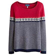 Buy Joules Solita Contrast Jumper, Ruby Online at johnlewis.com