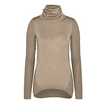 Buy Armani Jeans Polo Neck Rib Jumper, Taupe Online at johnlewis.com