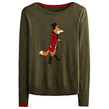 Buy Joules Marsha Fox Jumper, Olive Online at johnlewis.com