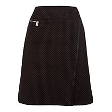 Buy Gerry Weber Knitted Jacquard Skirt, Chocolate Online at johnlewis.com