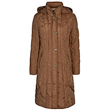 Buy Gerry Weber Hooded Coat, Toffee Online at johnlewis.com