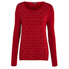 Buy Gerry Weber Sparkle Knit Jumper, Rosehip Online at johnlewis.com