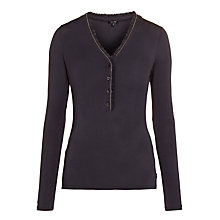 Buy Armani Jeans Ruffle And Sparkle Top, Navy Online at johnlewis.com