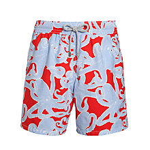 Buy Vilebrequin Octopus Print Swim Shorts, Red/Blue Online at johnlewis.com