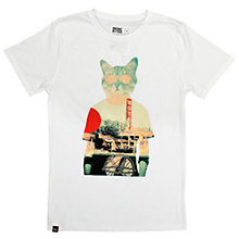 Buy Dedicated Cool Cat T-Shirt, White Online at johnlewis.com