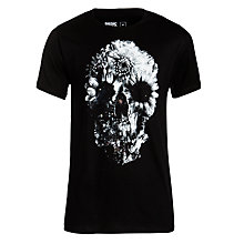 Buy Dedicated Floral Skull T-Shirt, White Online at johnlewis.com