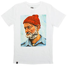 Buy Dedicated Steve Zissou T-Shirt, White Online at johnlewis.com