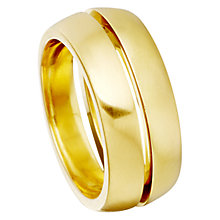 Buy Astley Clarke Colour 18ct Gold Vermeil Inverted Stackable Ring Online at johnlewis.com