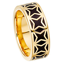 Buy Astley Clarke Colour London Nights Star Mosaic 18ct Gold Vermeil Enamel Ring Online at johnlewis.com