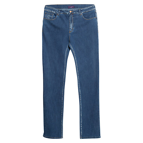 Buy Violeta by Mango Slim-Fit Royal Jeans, Navy Online at johnlewis.com