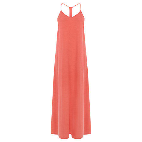 Buy Warehouse Strappy Maxi Dress, Coral Online at johnlewis.com