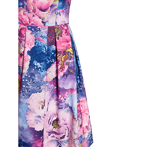 Buy Warehouse Floral Pleated Dress, Multi Online at johnlewis.com