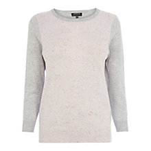 Buy Warehouse Nep Front Crew Jumper Online at johnlewis.com