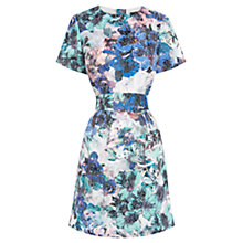Buy Warehouse Printed Jacquard Shift Dress, Multi Online at johnlewis.com