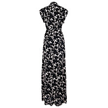 Buy French Connection Hatched Horses Maxi Dress, Black/Daisy White Online at johnlewis.com