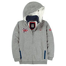 Buy Crew Clothing Boys' Eden Zip-Through Hoodie, Grey Online at johnlewis.com