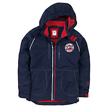 Buy Crew Clothing Boys' Spray Jacket, Navy/Red Online at johnlewis.com