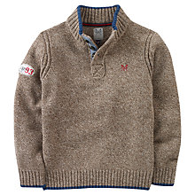 Buy Crew Clothing Boys' Jack Knit Jumper, Chocolate Online at johnlewis.com