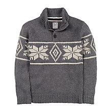 Buy Crew Clothing Boys' Bertie Fair Isle Knit Jumper, Grey Online at johnlewis.com