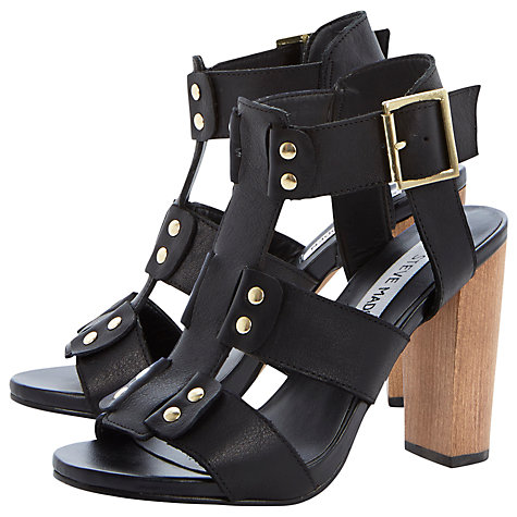 Buy Steve Madden Strappy Buckle Detail Leather Sandals Online at johnlewis.com