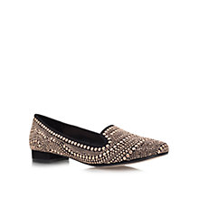 Buy Carvela Larkey Embellished Flat Loafers, Black Online at johnlewis.com