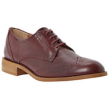 Buy Dune Leslee Leather Brogues, Burgundy Online at johnlewis.com