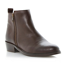Buy Dune Pippie Side Zip Leather Ankle Boots Online at johnlewis.com