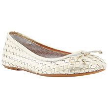 Buy Bertie Medorra Leather Gold Ballerina Pumps Online at johnlewis.com