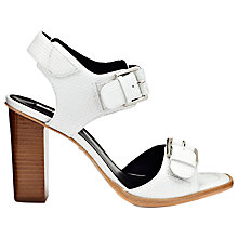 Buy Whistles Gia Buckle Block Heel Leather Sandals Online at johnlewis.com