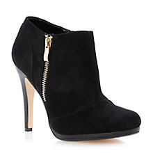 Buy Dune Addorna Seude Ankle Boots, Black Online at johnlewis.com