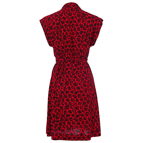 Buy French Connection Anna Jersey Tie Waist Dress, Red Online at johnlewis.com