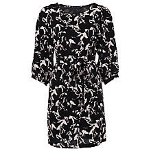 Buy French Connection Hatched Horses Dress, Black/White Online at johnlewis.com