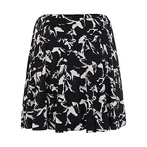 Buy French Connection Hatched Horses Skater Skirt, Black/Daisy White Online at johnlewis.com