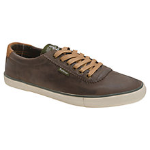 Buy Barbour Valiant Trainers, Dark Brown Online at johnlewis.com
